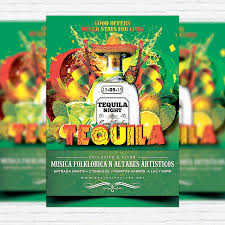 Green Party Flyer Tequila Party Premium Flyer Template Facebook Cover