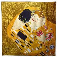 gustav klimt s the kiss art scarf in silk is part of our klimt gifts for artists