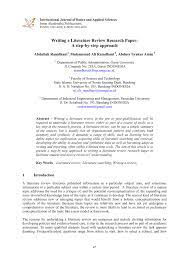 a literature review research paper