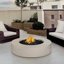 want a simple and elegant fire pit table then why not get this white marble