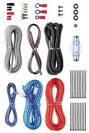 car subwoofer wiring kit solidfonts 500 watt complete 8 gauge car amp audio amplifier cable subwoofer