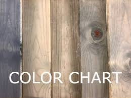 Weather Color Chart Weatherwood Stains Home