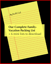 Packing For Vacation Lists Packing List For Every Family Vacation Printable