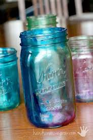 marbleized tinted mason jars learn how to tint mason jars the kids can even