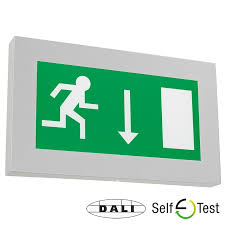 emergency lighting products dali and self test functionality led exit signs