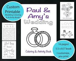 personalized coloring pages to print custom wedding coloring book custom printable wedding coloring activity book on personalized coloring pages
