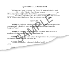 Equipment Lease Agreement & Guide