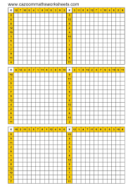 Make A Blank Chart Blank Times Table Chart Printable Make A Blank Chart