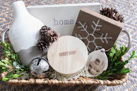 i partnered up with gordman s to bring you a simple gift basket idea i love neutral colors wood tones wicker pottery and vine inspired