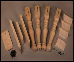 wood pedestal table bases parts legs
