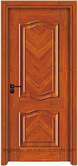 3D Simple Designs Modern White Wood Door Design Melamine Finish Door Bedroom  Interior Wooden Door (EI T111)