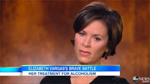 elizabeth vargas. in an interview aired on good morning america friday, 20/20 host elizabeth vargas spoke with george stephanopoulos about her trip to rehab for alcoholism