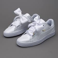 womens shoes puma basket heart patent puma white puma white 363073 02