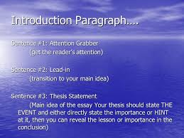 personal narrative essay compose an essay relating the details of 3 introduction paragraph
