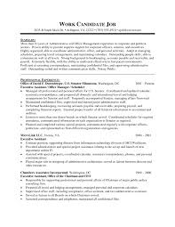 Job Resume Template Executive Administrative Assistant Resume Sample