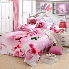 pink rose romantic love heart cute and elegant chic girls full queen size bedding duvet cover sets