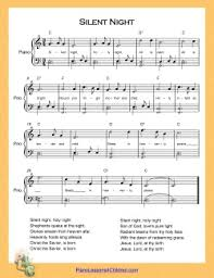 This is a super easy tutorial on how to play silent night on the piano / musical keyboard, using only the treble notes, or in other words, the right side of. Silent Night Piano Lesson On Videos Lyrics Free Sheet Music For Piano