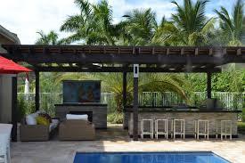 pergola miami. outdoor kitchen and pergola project mediterraneanpatio miami h