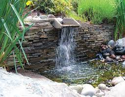 water retaining wall waterfall