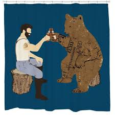 Cool shower curtains for guys Interesting Having Bear Beer Shower Curtain Empbankinfo Cool Unique Graphic Shower Curtains 1999 Sharp Shirter