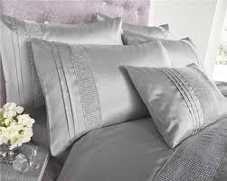silver grey black white diamante duvet sets curtains