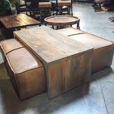 leather coffee table leather ottoman