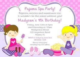 Birthday Party Invitations Appealing Spa Which You Need To Make