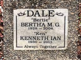 """Bertha M. G. """"Bertie"""" Dale (1928-2004) - Find A Grave Memorial"""