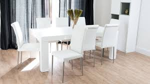 white rectangular dining table. Large White Rectangular Dining Set Table