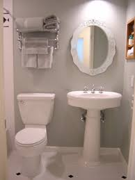 bathroom wonderful small bathroom interior decorating with cleanly white pedestal sink mirror frames and astounding small bathrooms ideas