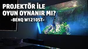 Projektör ile oyun oynanır mı? / BenQ W1210ST ile Denedik - YouTube