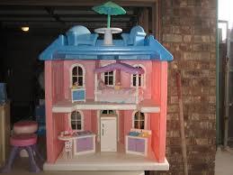 pink dolls house furniture. little tikes my size barbie pink doll house complete with furniture and dolls h