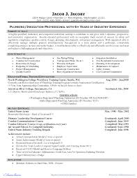 Resume Objective Examples Plumber Resume For Study