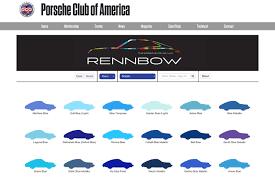 Rennbow A Searchable Porsche Color Database Porsche Club