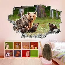 baby bear cubs 3d wall art sticker