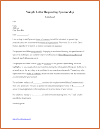 How To Write Sponsorship Letter Work Proposal Letter