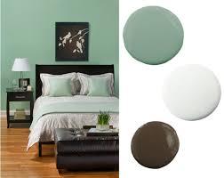 mint green brown bedroom