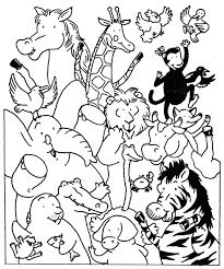 Coloriage Les Animaux Du Zoo Et Dessin Colorier Les Animaux Du