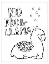 Coloring is a very useful hobby for kids. Just A Fun And Simple Printable Coloring Page Of A Cute Llama Easy Coloring Pages Free Kids Coloring Pages Printable Coloring Pages