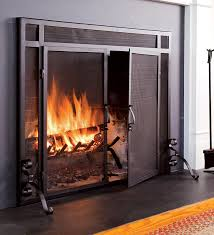 restoration hardware mission fireplace screen retails for 749 solid steel classic flat guard fire screens with doors