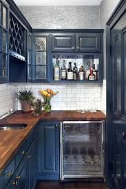 Navy Blue Kitchen Cabinets Small Kitchens Can Handle Deep Blue