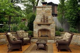 fireplace on patio