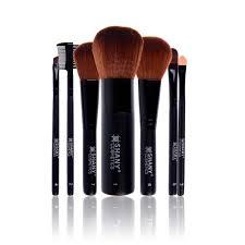 studio quality goat sable bristles cosmetic brush set with large kabuki 7 pc