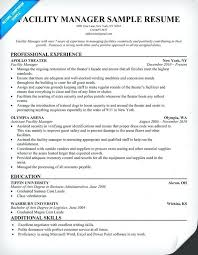 Facility Manager Resume Samples Regional Manager Resume Sample Facilities Assistant Facility Example