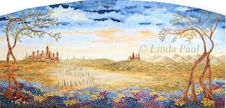 fields of tuscany original landscape painting