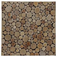 16 54 x16 54 riverbed mosaic natural teak wall tiles set of 6 contemporary wall and floor tile by ecotessa