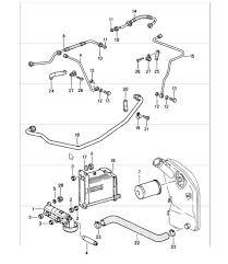porsche radiator engine oil cooler design  engine lubrication oil pump lines 911 1987 89