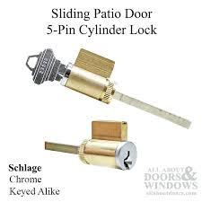 patio door cylinder lock cylinder lock sliding patio door 5 pin tumbler keyed alike how to