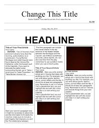 example of a newspaper article newspaper article template in word and pdf formats