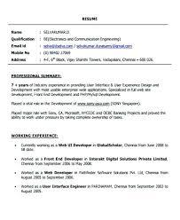 Front End Developer Resume Extraordinary Developer Resume Front End Web Fresher Format Ui Template Mixmixco